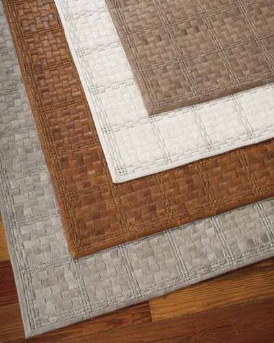 "Barclay Butera Lifestyle ""Derby"" Woven Leather Rug"