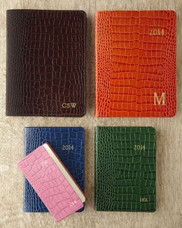 Graphic Image Personalized Leather Journals