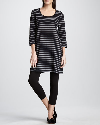 Joan Vass Striped Tunic & Stretch Leggings