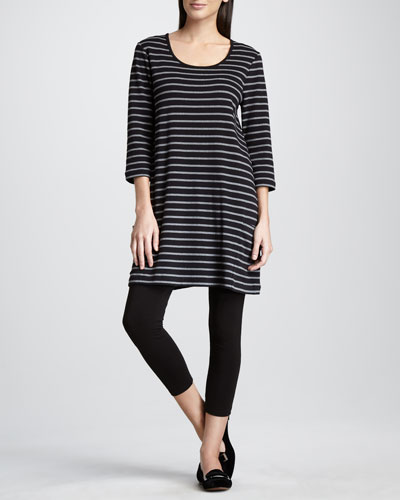 Joan Vass Striped Knit Tunic & Stretch Leggings, Women's