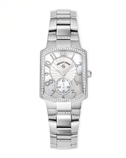 Philip Stein Stainless Steel Diamond Watch Head & Bracelet