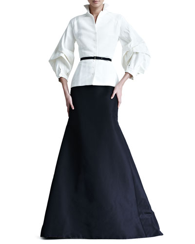 Silk Faille Blouse & Gown Skirt
