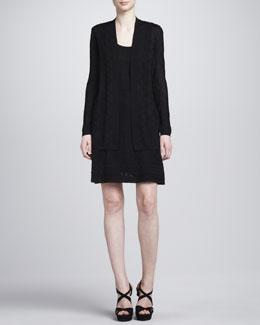 M Missoni Zigzag Knit Cardigan, Tank & A-line Skirt