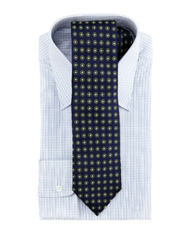Charvet Mini-Check Dress Shirt & Circles Tie
