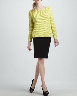 Diane von Furstenberg Cora Large-Weave Sweater & New Koto Skirt