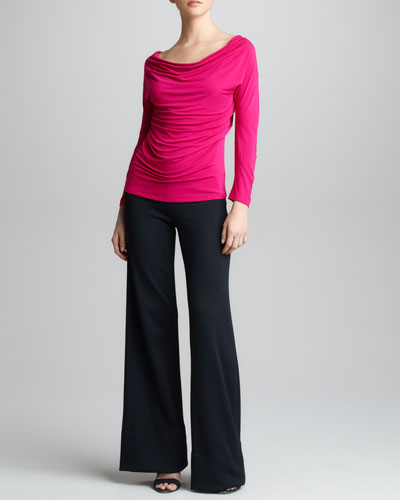 Donna Karan Jersey Draped Top & Crepe Double-Jersey Trouser