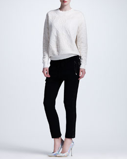 Stella McCartney Damask-Embossed Sweatshirt & Cuffed Drawstring Pants