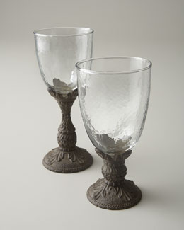 GG Collection Glassware with Cast Aluminum Stems