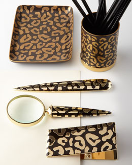 "L'Objet ""Leopard"" Desk Accessories"