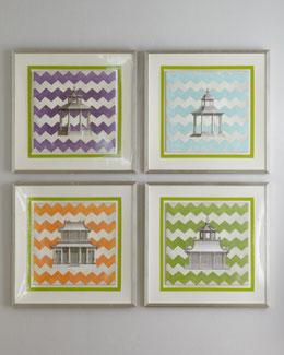 """Florence de Dampierre """"Zigzag Pagoda"""" Prints"""
