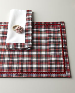 Juliska Red Tartan Table Linens