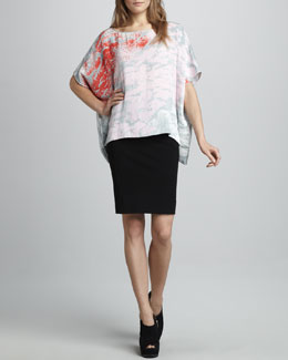 Diane von Furstenberg New Hankey Printed Top & New Koto Skirt