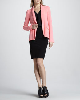 Diane von Furstenberg Victor Open Crepe Jacket, Reagan Draped Sleeveless Top & New Koto Skirt