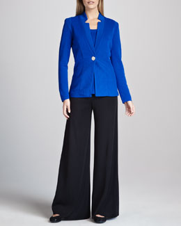 Misook Ottoman Ribbed Jacket, Amy Tank & Palazzo Pants, Women's
