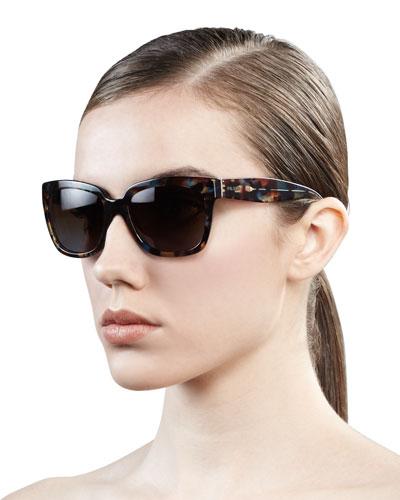 Prada Tortoise Rectangle Sunglasses