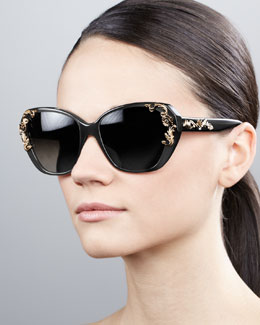 D&G Flower-Temple Square Sunglasses