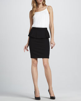 Alice + Olivia Sleeveless Bodysuit & Natasha Peplum Pencil Skirt