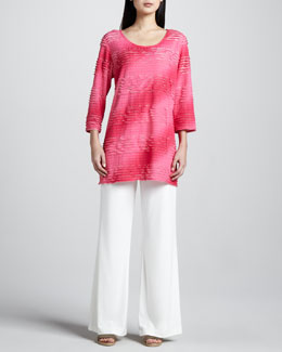Caroline Rose Neon Ombre Tunic & Wide-Leg Pants, Women's