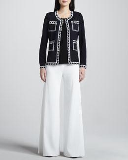 Misook Adrienne Intarsia Jacket, Amy Slim Tank & Knit Palazzo Pants