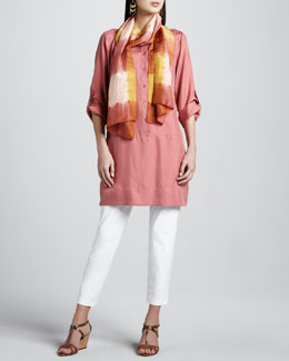 Eileen Fisher Slim Ankle Pants, Tunic/Dress & Silk Shibori Scarf