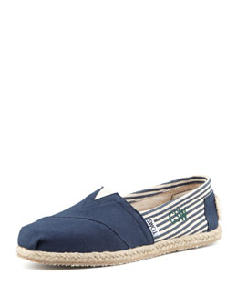 TOMS Monogrammed Classic University Slip On, Navy