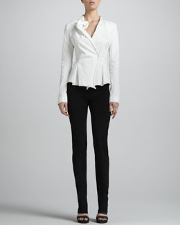 Donna Karan Sculpted-Lapel Jacket & Slim Straight-Leg Pants