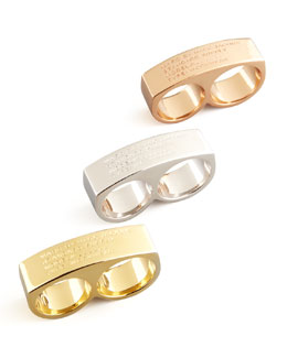 MARC by Marc Jacobs Standard Supply Double Ring