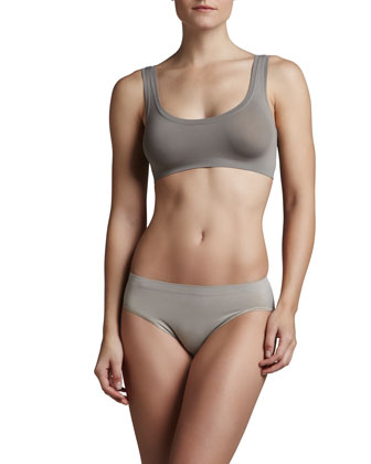 Touch Feeling Crop Top & High-Cut Briefs, Stone