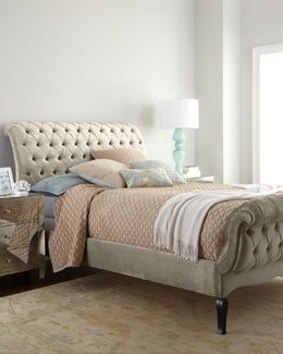 NM EXCLUSIVE Champagne Tufted Bed
