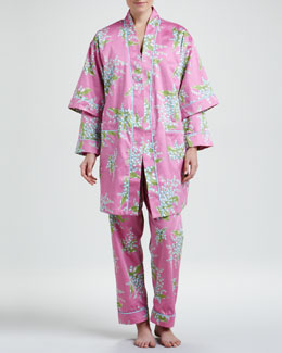Bedhead Lily of the Valley Classic Sateen Pajamas & Robe