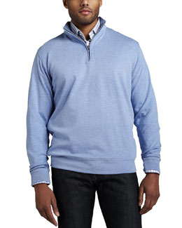 Peter Millar Interlock Quarter-Zip Sweater & Check Sport Shirt