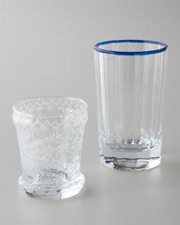 Oscar de la Renta Etched Glassware