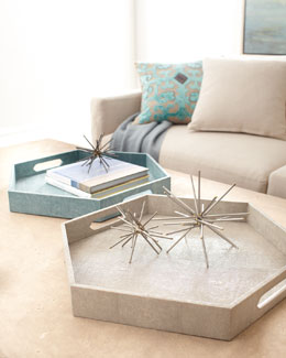 Regina-Andrew Design Faux-Shagreen Hex Tray