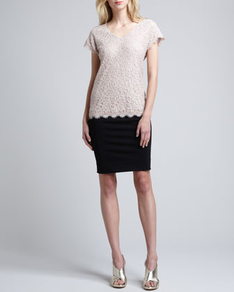 Cholula Cap-Sleeve Lace Top & New Koto Skirt