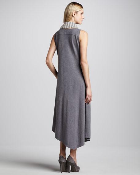 Handkerchief-Hem Slub Maxi Dress, Women's
