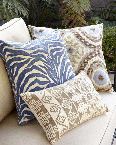 Global Blue, Tan, & Brown Outdoor Pillows