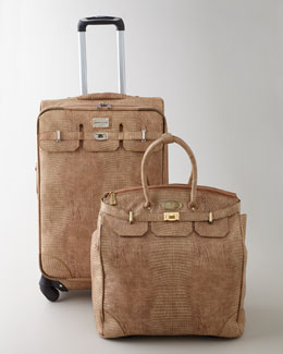 "Adrienne Vittadini ""Embossed Lizard"" Luggage"