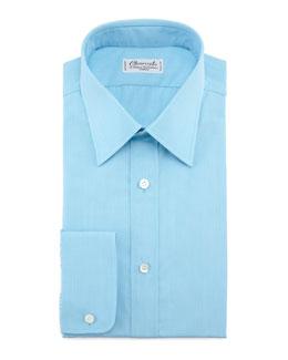 Charvet Solid Dress Shirt & Neat Silk Tie