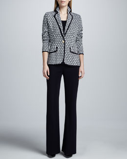 Misook Collection Camille Geometric Knit Jacket, Amy Tank & Boot-Cut Pants, Women's