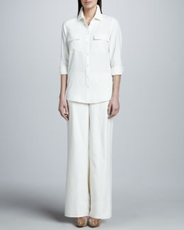Go Silk Safari Silk Shirt & Fuji Silk Full-Leg Pants