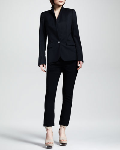Stella McCartney One-Button Jacket & Cuffed Drawstring Pants