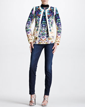 Quilted Floral-Print Jacket, Tropical Floral-Print Halter Top & ...