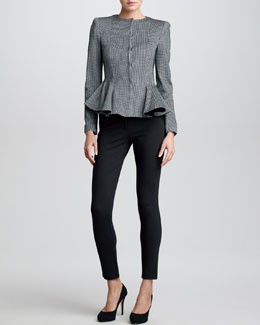 Armani Collezioni Check Ponte Jersey Jacket & Double-Faced Leggings