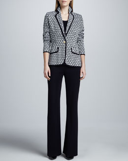 Misook Collection Camille Geometric Knit Jacket, Amy Tank & Boot-Cut Pants