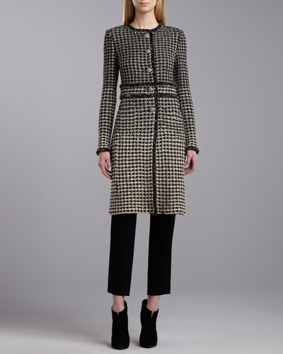 St. John Collection Degrade Houndstooth Jacket & Side Zip Emma Pants