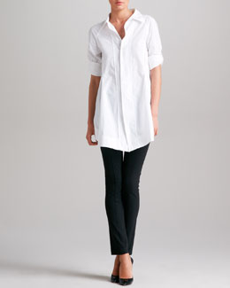 Donna Karan Boyfriend Shirt & Seamed Leggings