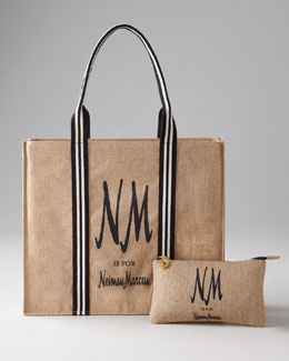 "NM EXCLUSIVE ""NM is for Neiman Marcus"" Cosmetic Bag & Tote"