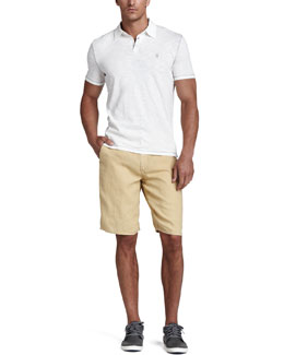 John Varvatos Star USA Slub Polo & Linen Shorts