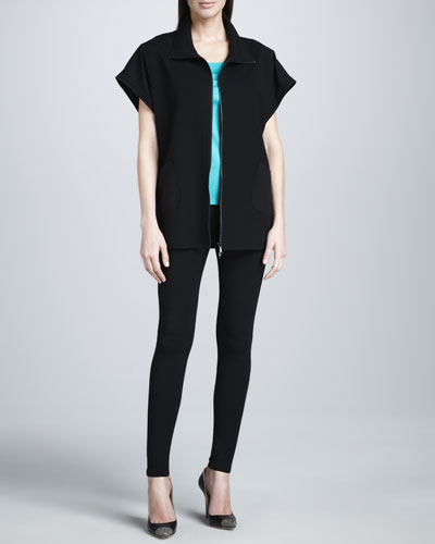 Lafayette 148 New York Oversized Zigzag Jacket, Cove Ribbed Tank & Basic Jersey Leggings