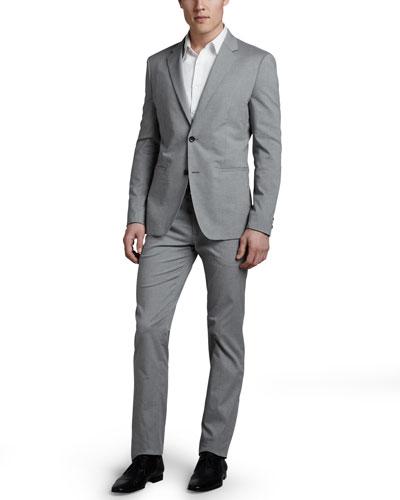 Theory Kris Cotton-Blend Blazer, Zack Sport Shirt & Marlo Cotton-Blend Slim Pants
